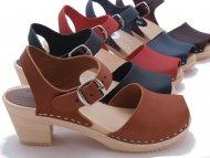 90s Suede leather fringe sandals Chunk heel mules Heel sandal clogs Boho clogs Ladies clogs Women shoes Slipper Size 37 US 6.5