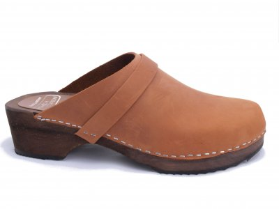 d75d1e33bbb64 ERIK Cognac- classic swedish clogs and wooden shoes