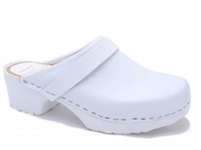 KRONAN White- classic swedish clogs and