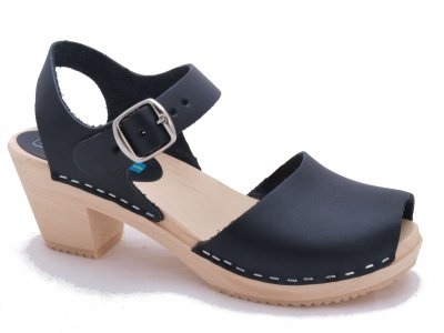 Moa Black Classic Swedish Clogs And Wooden Shoes