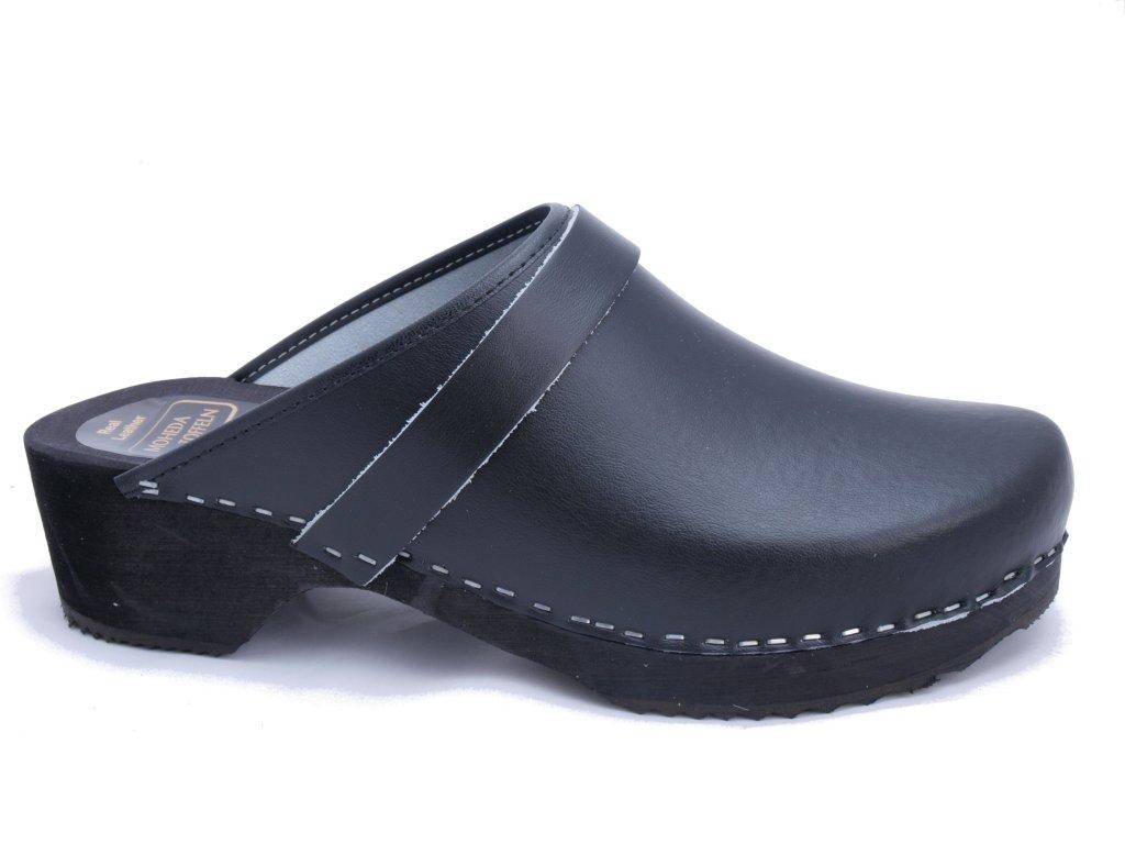 ANTON Black- classic swedish clogs and